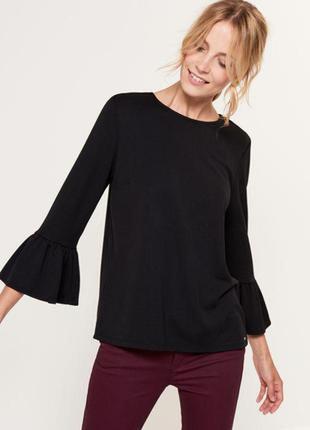 Блуза кофточка с акцентными рукавами воланами m&co1 фото