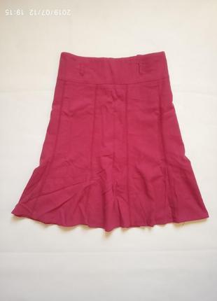 Яркая льняная юбка