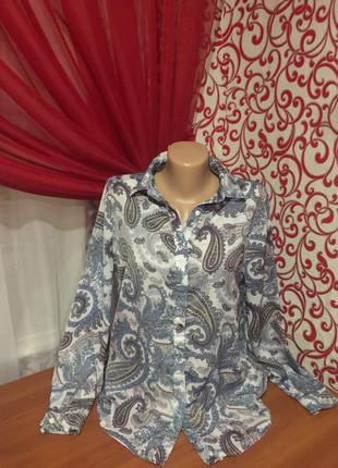 Шикарная блуза-рубашка в стиле оверсайз *hearts & bows*,удлиненная спинкана 44 р