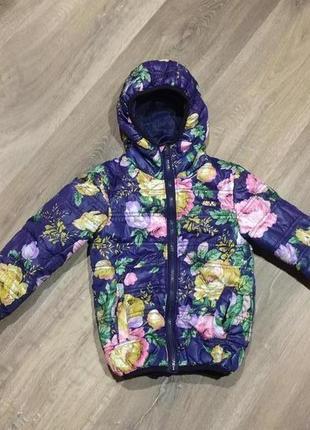 Демисезонная  курточка для девочки exclusive collection в цветочный принт