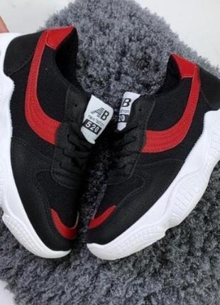 Стильные черные кроссовки на платформе на толстой подошве