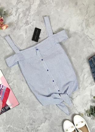 Хлопковая блуза в полоску  bl1928048 new look