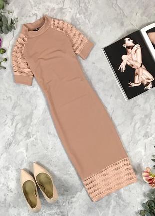 Модное платье по фигуре цвета нюд  dr1928068 missguided