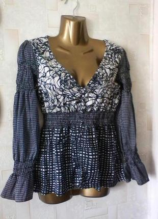 Шелковая блуза, шелк,  от freesoul, разм. 48
