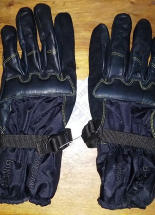 Кожаные мотоперчатки porelle, spirit of biker