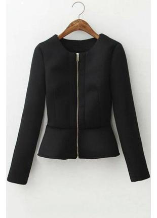 Куртка бомбер пиджак кофта жакет неопрен с молнией новый s m amisu