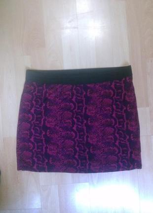 Фирменная легкая трикотажная юбка