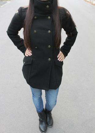 Пальто bershka черное