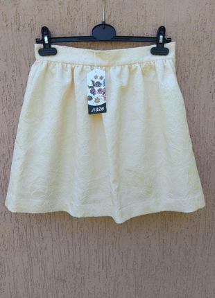 -50% на вторую вещь новая юбка фактурная ткань uk 10 m наш 44