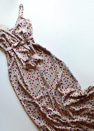 Фирменное длинное платье с воланами monsoon