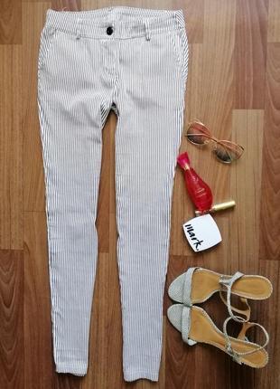 🌿 брюки/штаны укороченные в мелкую полоску2 фото