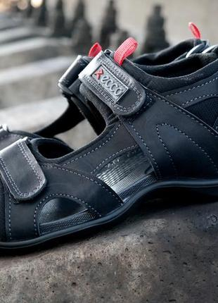 Мужские сандалии, натуральная кожа, модель спорт. трансформеры