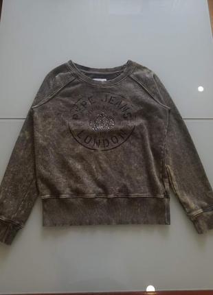 Свитшот реглан pepe jeans оригинал англия коттон изнутри махра новая коллекция