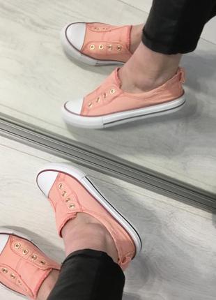 Летние стильные кеды, цвет пудра персиковый, greasland