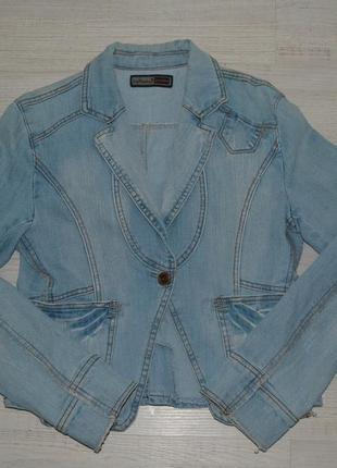 Шикарный джинсовый пиджак big rope