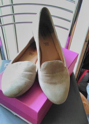 Классные замшевые туфли,внутри кожаные. длина стельки-27см, ширина-8 см