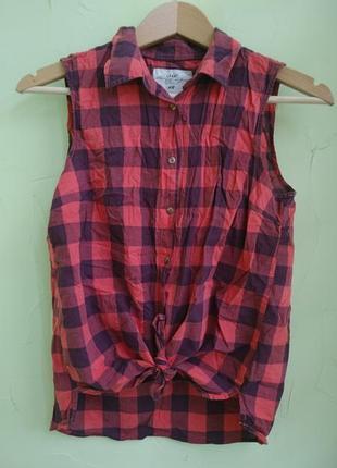 Крутая рубаха в клетку h&m s