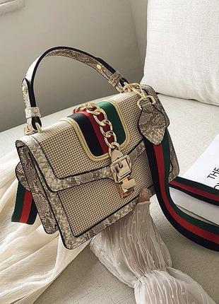 Классная женская сумка с модным принтом