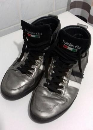 Мужские кожаные мокасины, ботинки, размер 42, италия