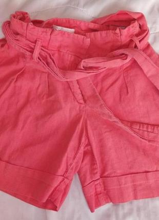 Льняные плотные шорты