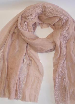 Нежный красивый легкий шарф бренд h&m швеция