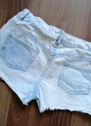 🌿распродажа 🌿джинсовые шорты с кружевом и бахромой5 фото