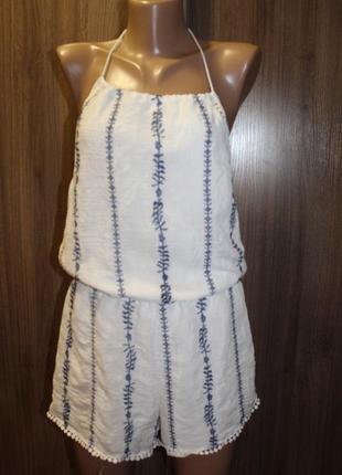Комбинезон с вышивкой parisian collection в идеальном состоянии м-l