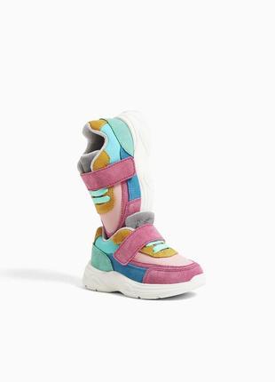 Кожаные кроссовки zara новая колекция 22 размер