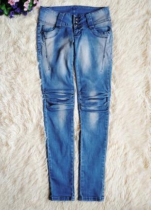 ♠️ джинсы варенки скинни, с присобраными коленками ♠️