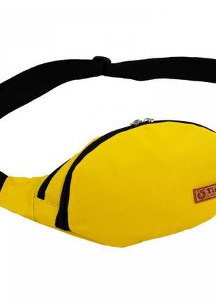 """Поясная сумка - бананка """"canary"""" желтая"""