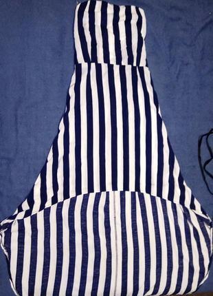 Летний сарафан, платье в полоску