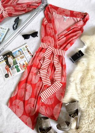 Нереально крутое дизайнерское платье халат diane von furstenberg