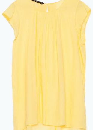 Новая без бирки жёлтая блузочка 🌞🌷ramie +cotton zara basic spain