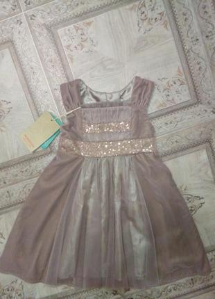 Воздушное нарядное платье monsoon 1-1,5 года
