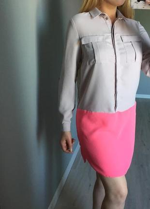 New look /мега цікаве плаття-сорочка двох кольорів