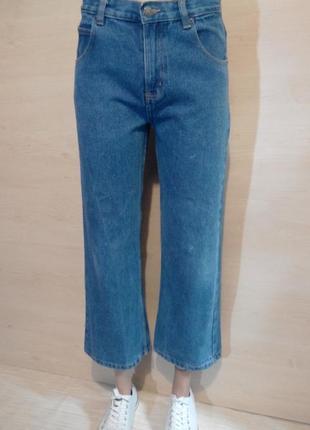 Джинсовые кюлоты широкие джинсы george