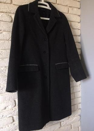 Шерстяное двубортное пальто бойфренд