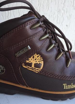 Кожаные демисезонные ботинки timberland 29р. оригинал. таиланд.