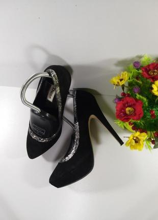 🌈замшевые нарядные туфли на каблуке✔️6 фото