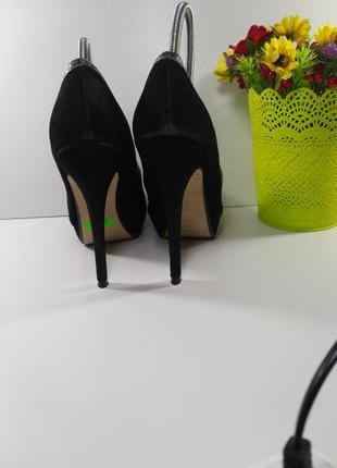 🌈замшевые нарядные туфли на каблуке✔️7 фото