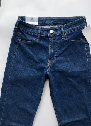 Высокие узкие синие джинсы скинни / skinny h&m