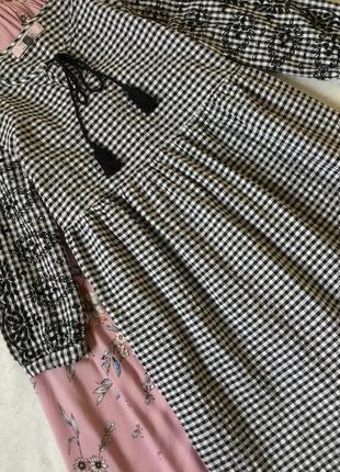 Платье хлопковое в клетку с прошвой для будущих мам dorothy perkins размер 12/14