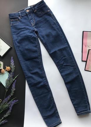 Высокие узкие синие джинсы с высокой посадкой скинни / skinny