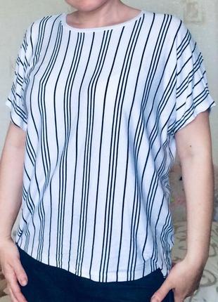 Стильная трикотажная блуза в полоску