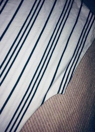 Стильная трикотажная блуза в полоску5 фото