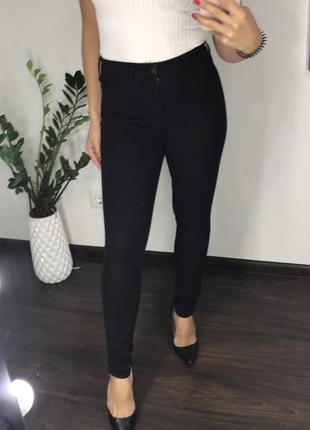 Высокие узкие чёрные джинсы с высокой посадкой скинни / skinny