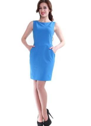 Голубое повседневное платье мини alpama однотонное
