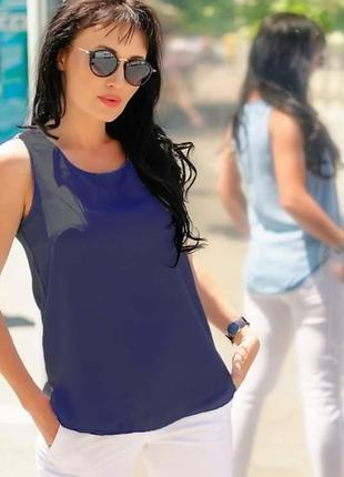 Двухсторонняя шифоновая блуза, 42-60р