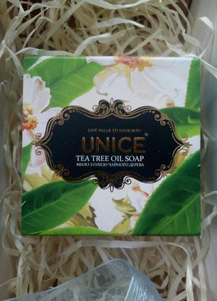 Твердое мыло unice с маслом чайного дерева, 100 гр.