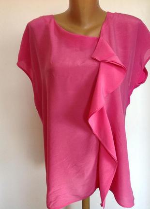 Комбинированная красивая блузка . /xl/ brend east. шёлк- вискоза